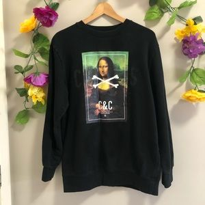 Crooks & Castles Black Mona Lisa Sweatshirt